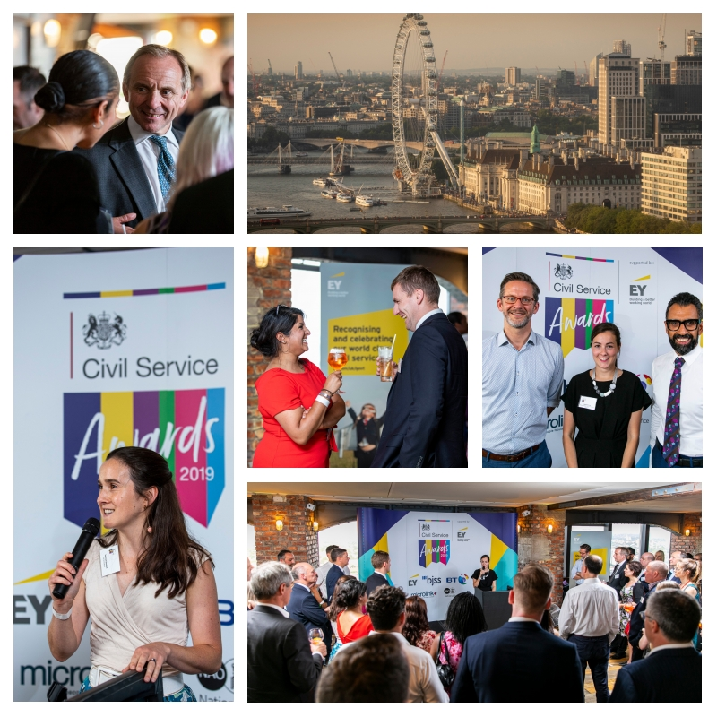 Collection of images from the 2019 Civil Service Awards